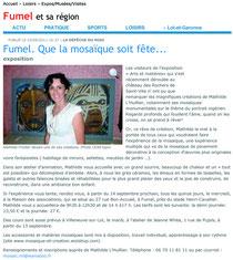 fumel, article sur expo mosaïque