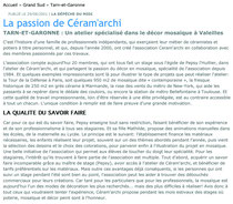 article mosaïque-la dépêche-2001