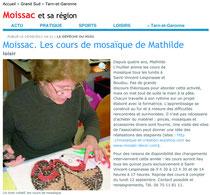 cours mosaïque - la depeche - septembre 2011
