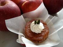 タルト・タタン風         りんごとカスタードクリームのパイ