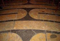 Détail du labyrinthe de la cathédrale de Chartres