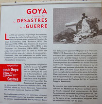 """L'affiche pour la présentation des """"Désastres de la Guerre"""" au musée Goya à Castres (Tarn)"""