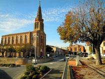 Lafrançaise (Tarn-et-Garonne) avec son église Saint Georges