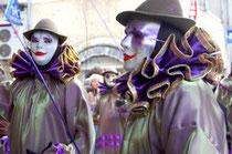Le Tivoli - une banda du carnaval de Limoux (Aude) lors du défilé sur la place centrale