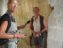 Beim Interviev in der Burg Quéribus