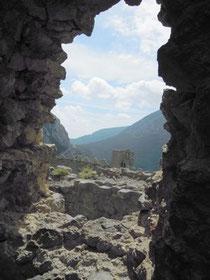 vue du château de Puilaurens/Aude