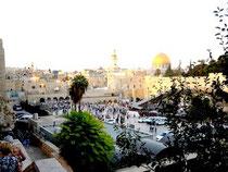 Jérusalem avec son mur ouest, dit de Lamentations