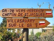 panneaux à Fanjeux (Aude)