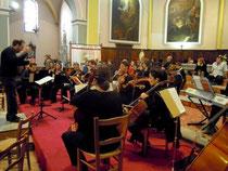 l'orchestre de chambre CORDIALIS lors de la répétition