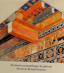 Plafond médiéval de la maison de la famille Carcassonne à Montpellier