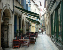 rues pittoresques des villes et villages