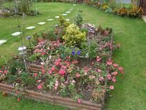 un parterre du jardin