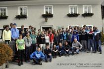 Gruppenbild Skifreizeit 2013