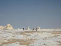 Randonnée dans le désert blanc