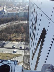 Fassaden Folierung Beklebung München Highlight Tower