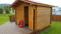 Unsere Hütte in Akureyri