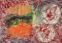 """Francesca Balacco e Gianantonio Marino Zago-cm 70x100 """"strati dell'anima""""2010"""