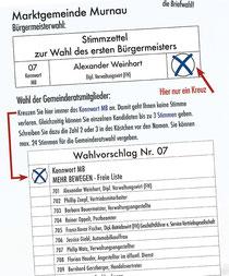 Murnau Kommunalwahl Liste 07