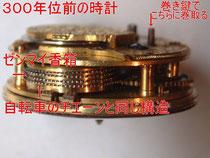 300年前の懐中時計