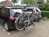 Mit dem Fahrradträger unterwegs