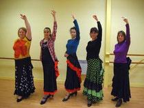 Cinq passionnées de flamenco./Photo DDM.