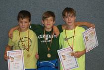 von links: Marius, Maximilian und Jarod