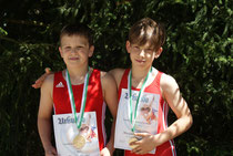 Marius und Maximilian nach dem Gewinn der Landesmeistertitel