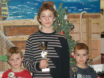 unsere 3 Pokalgewinner- Hauke, Camillo und Justin