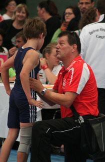 Maximilian mit Trainer Harald Stern