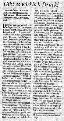 Leserbrief v. 24.05.2014