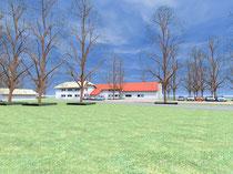 Strandhaus - Blick von Osten (vergrößern durch 1 x klicken auf das Bild)