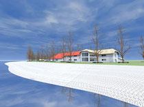 Strandhaus - Blick von Südwesten  (vergrößern durch 1 x klicken auf das Bild)