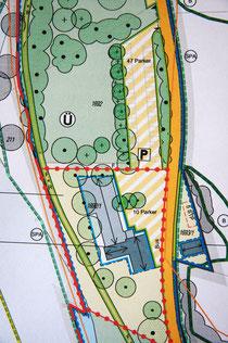 Ausschnitt Bebauungsplan Strandhaus