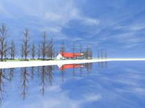 Strandhaus - Blick von Nordwesten (vergrößern durch 1 x klicken auf das Bild)