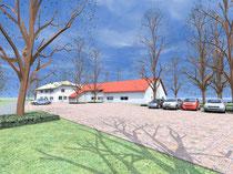 Strandhaus - Blick von Nordosten  (vergrößern durch 1 x klicken auf das Bild)