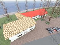 Strandhaus - Blick von Südosten  (vergrößern durch 1 x klicken auf das Bild)