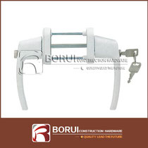 BR.210 PVC Door Handle with Key and Button Lock, Espagnolette Handle