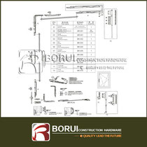 BR.101 European Aluminium Tilt and Turn Window Hardware