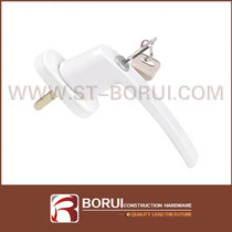 BR.212 PVC Window Handle with Key Lock, Espagnolette Handle