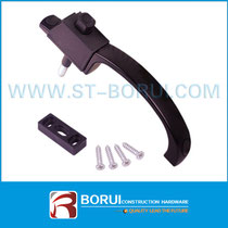 BR.021 Aluminium Sliding Window Handle, Button Locking Handle