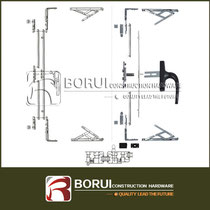 BR.103 European Casement Window Multipoint Lock System for Outward Opening
