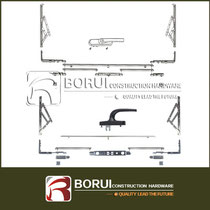 BR.105 Aluminum Curtain Wall Multi Point Lock System