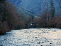 photos d'une rivière en haute Savoie