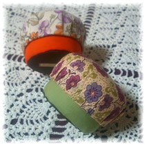 A pair of small macaloonboxes/#116/Cartonnage©Atelier Z=Grace