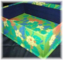 ハワイアンの長方形Box/#01/カルトナージュ ©Atelier Z=Grace