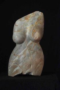 Verletzlich Frau Speckstein Skulptur