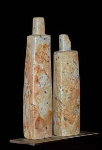 Zweisamkeit Paar Speckstein Skulptur