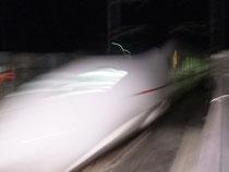 コジコの乗せた新幹線が帰ってきたー