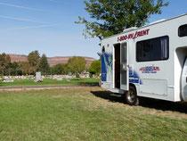 Crazy Horse Campground in Kanab direkt am Friedhof