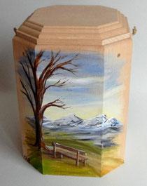Holzurne handbemalt Unikat